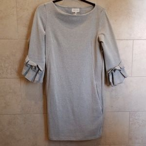 Sweater Dress with ruffled sleeves